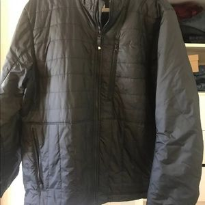 The north face quilted black coat Sz XL